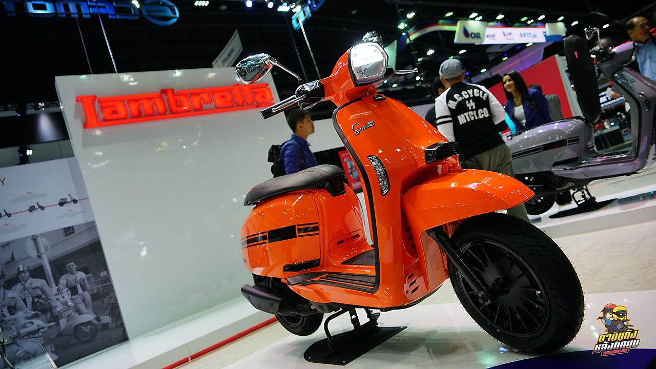 Lambretta V-Special được ra mắt tại Thái Lan phiên bản màu cam trẻ trung