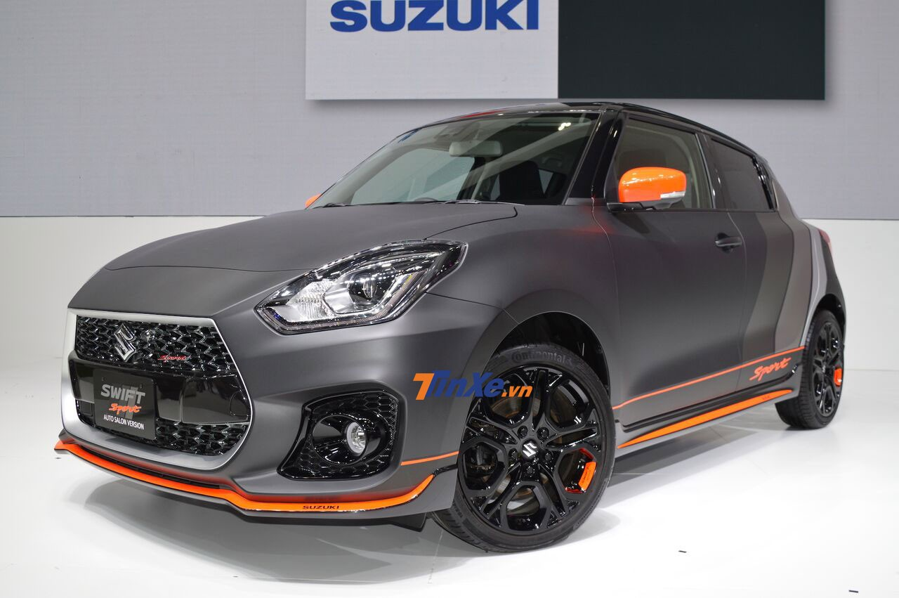 Chiếc Suzuki Swift Sport 2018 độ màu xám nhám