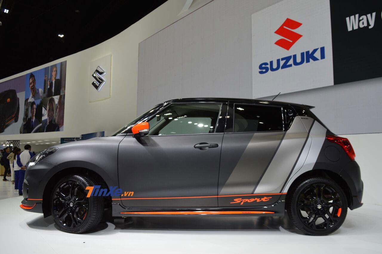 Suzuki Swift Sport Auto Salon Version có nhiều chi tiết màu cam tương phản