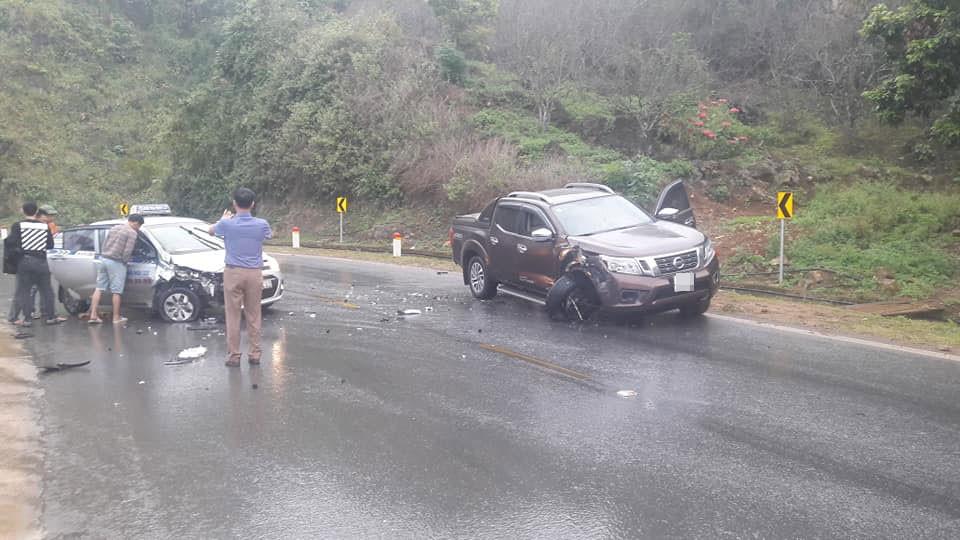 Hiện trường vụ tai nạn tại dốc Thớt