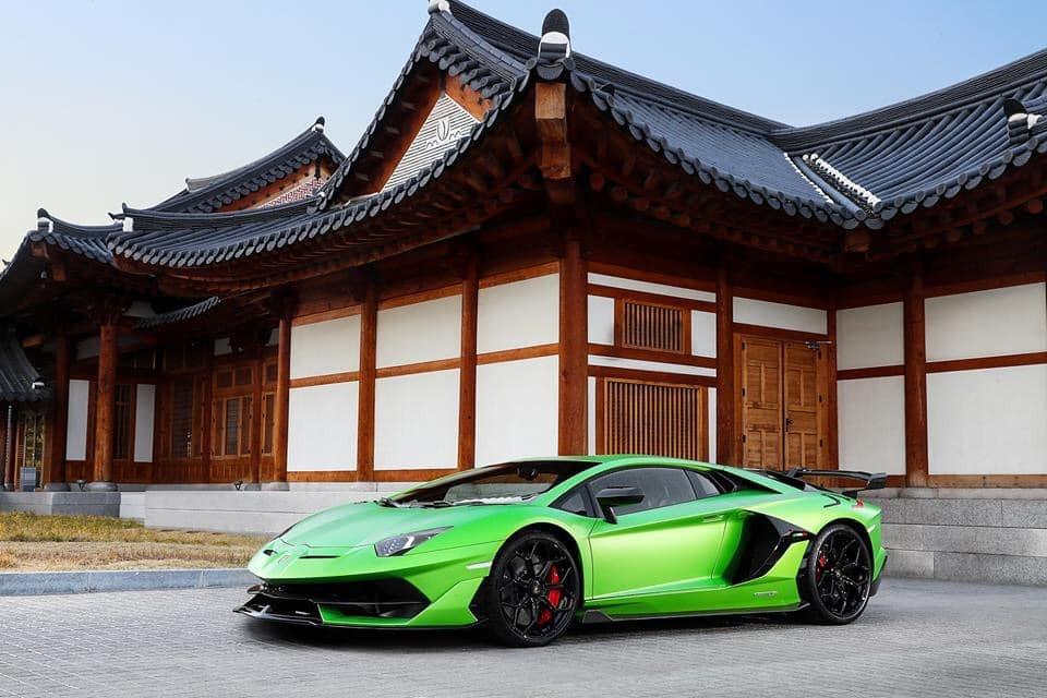 Và siêu phẩm cực hiếm Lamborghini Aventador SVJ tại Hàn Quốc là Yeong Bin Gwan