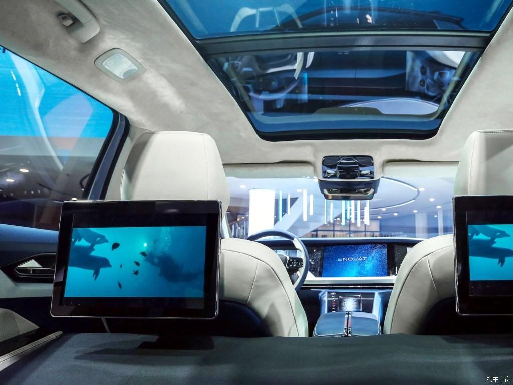 Enovate ME7 có 2 màn hình giải trí đằng sau và cửa sổ trời cực rộng