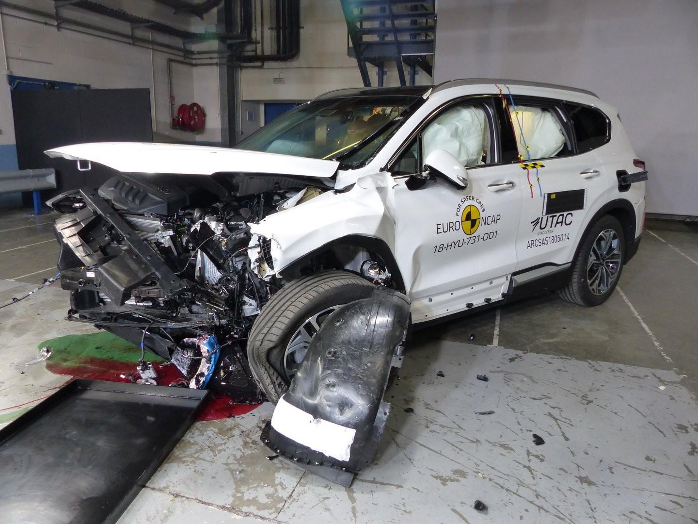 Hyundai Santa Fe 2019 trong thử nghiệm an toàn của Euro NCAP