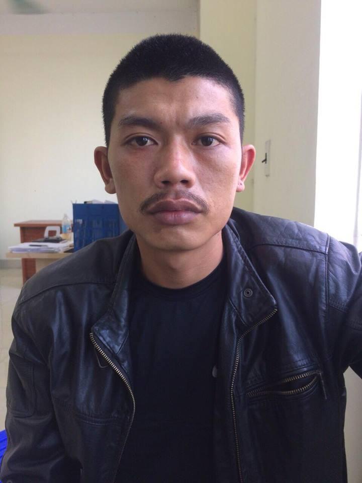 Trần Văn Cảm tại cơ quan công an