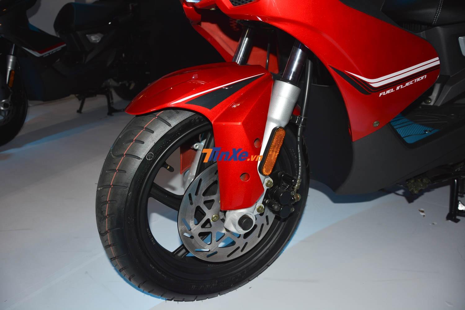 UMG Motor Damon 125cc được trang bị hệ thống phanh đĩa CBS phía trước