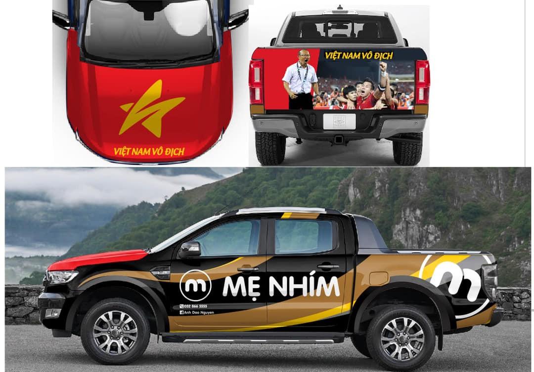Hình ảnh thiết kế dàn áo mới trên chiếc xe Ford Ranger Wildtrak Bi-Turbo của diễn viên Hồng Đăng.