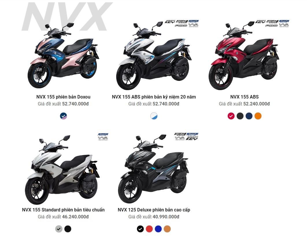 Giá xe Yamaha NVX 155 Doxou