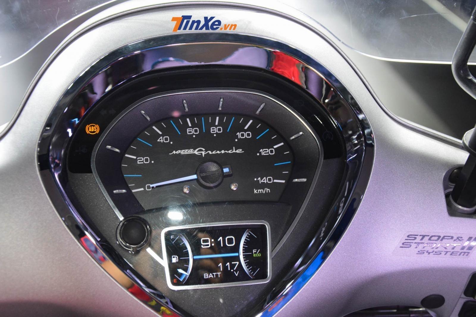 Đồng hồ mới tinh TFT màu của Yamaha Grande Hybrid