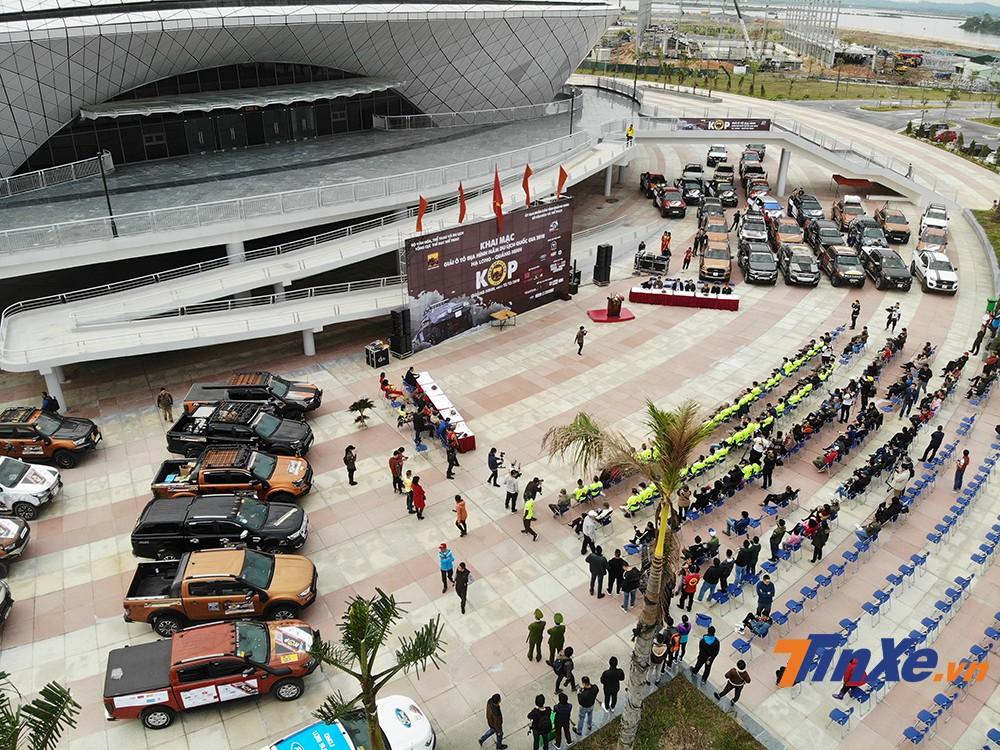 Dàn xe của các vận động viên tham gia KOP2018 đã sẵn sàng.