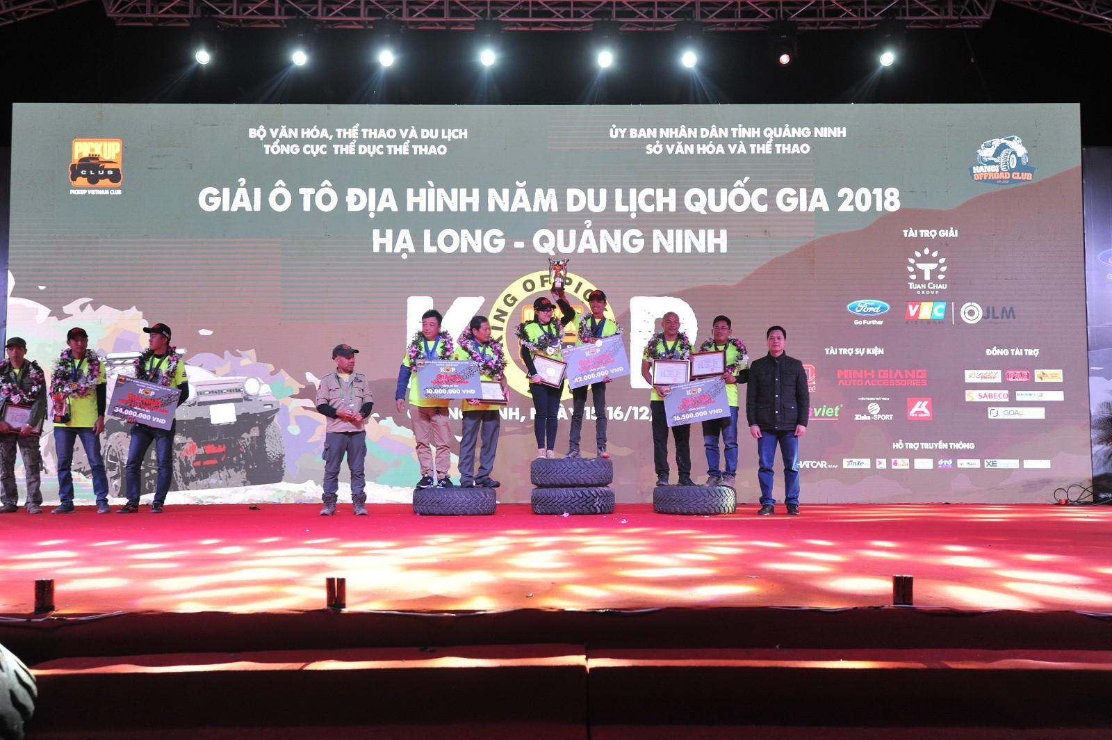 Giải ô tô địa hình KOP 2018 khép lại thành công tốt đẹp