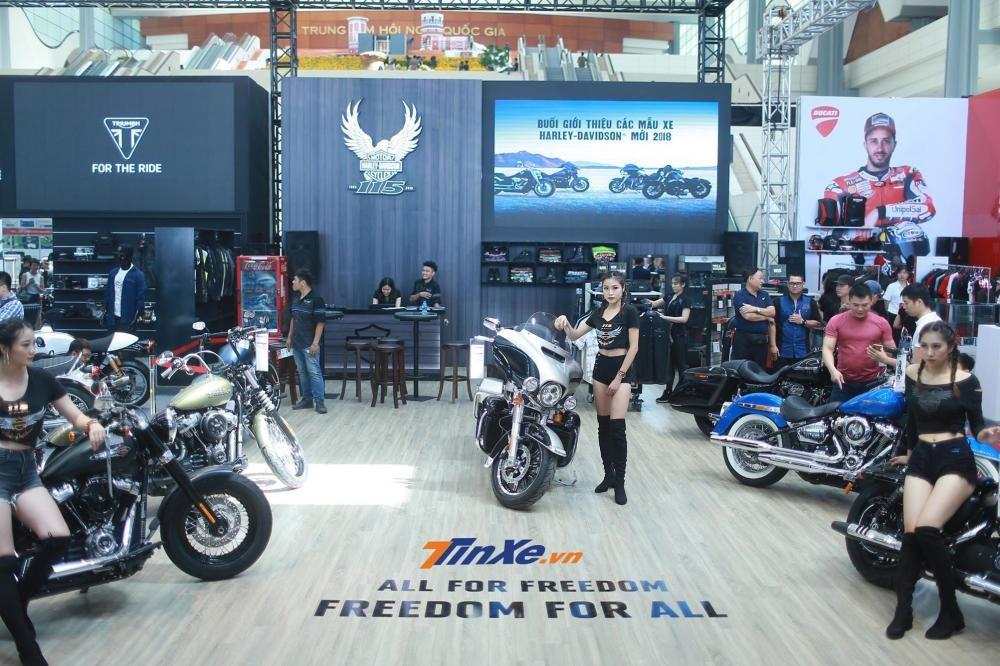 Toàn cảnh gian hàng Harley-Davidson