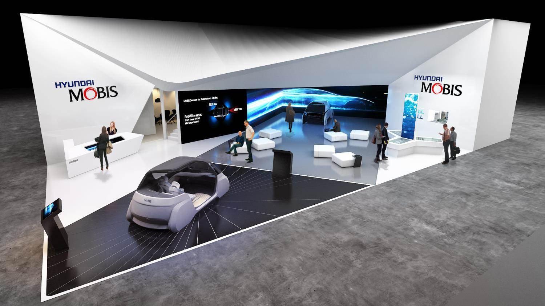 Mô hình gian hàng của Hyundai Mobis ở triển lãm CES 2019