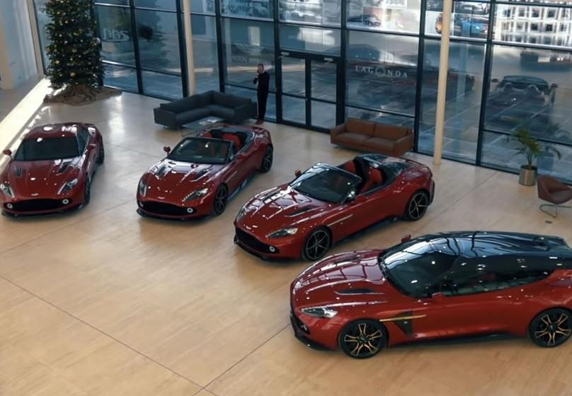 4 chiếc Aston Martin Vanquish Zagato đại gia bí ẩn đến từ Scotland mua đều có chung màu sơn đỏ Lava