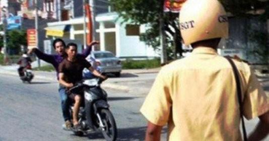Nhiều trường hợp không đội mũ bảo hiểm khi tham gia giao thông vẫn đang diễn ra hằng ngày tại thủ đô