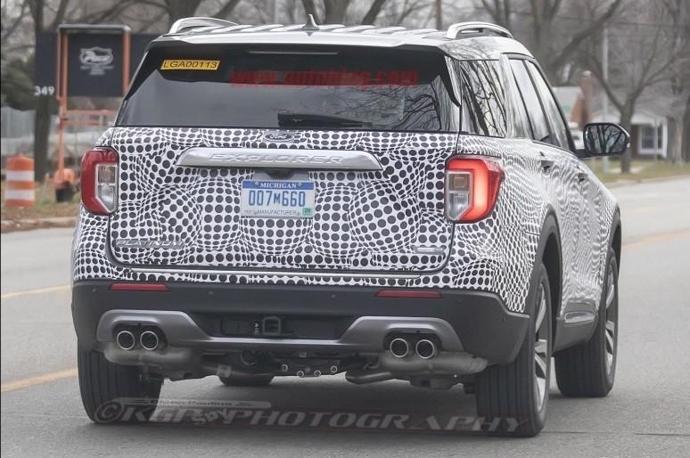 Thiết kế đuôi xe của Ford Explorer 2020