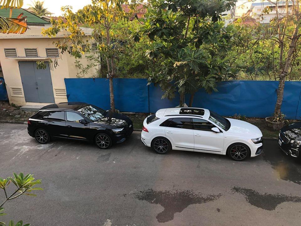 Lô xe SUV hạng sang Audi Q8 2019 đầu tiên tại Campuchia mang 2 màu chủ đạo là trắng và đen