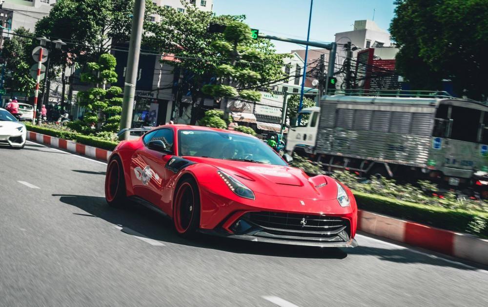 Đại hội siêu xe ở Long Hải sẽ có khoảng 7 chiếc siêu xe góp mặt và 1 trong số đó có Ferrari F12 Berlinetta mới ra biển số tỉnh Bà Rịa - Vũng Tàu
