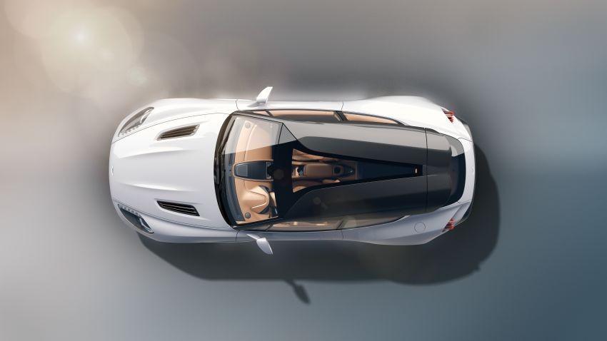 Aston Martin Vanquish Zagato Shooting Brake nhìn từ trên xuống