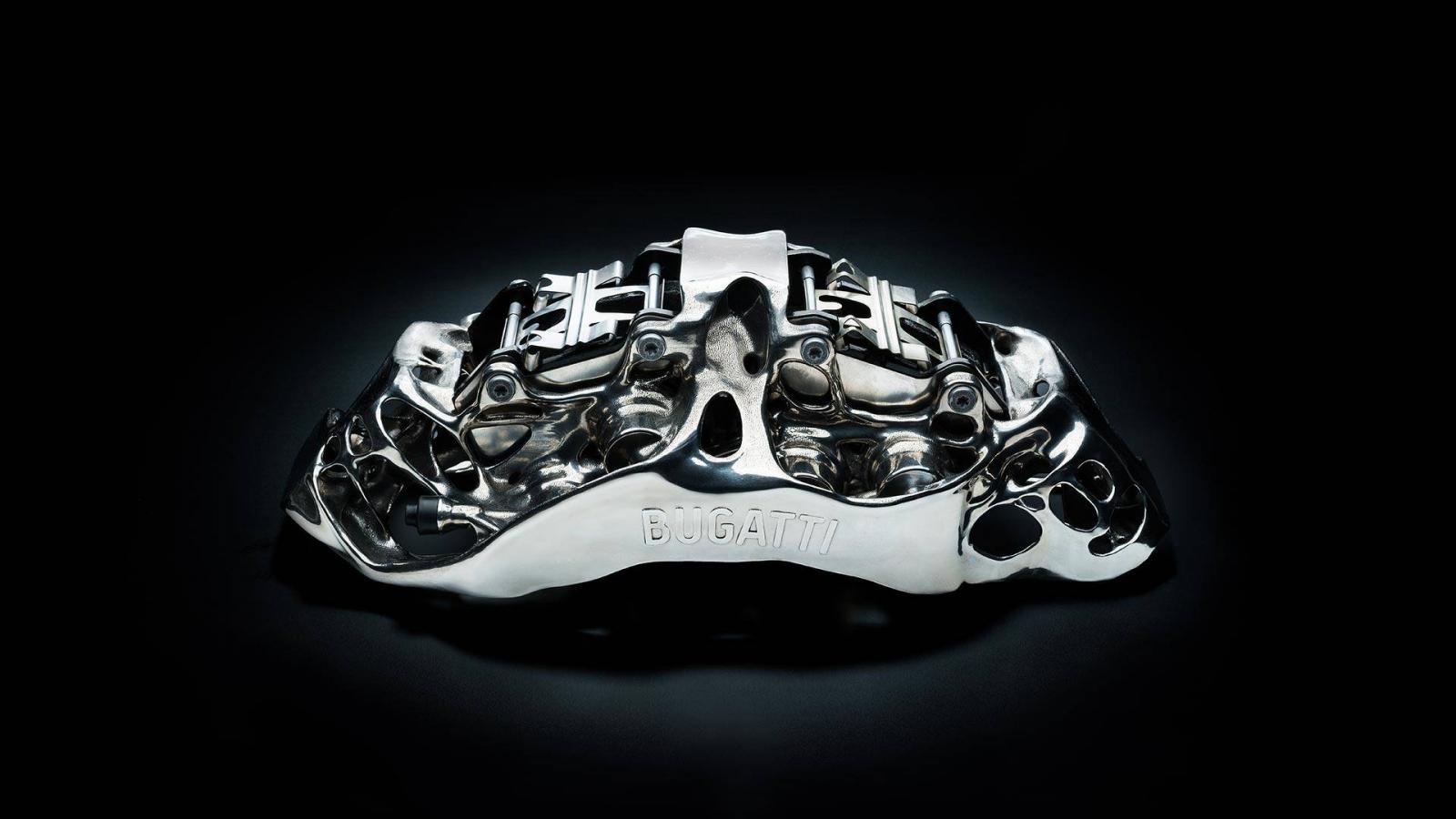 Cùm phanh in 3D của siêu xe Bugatti Chiron