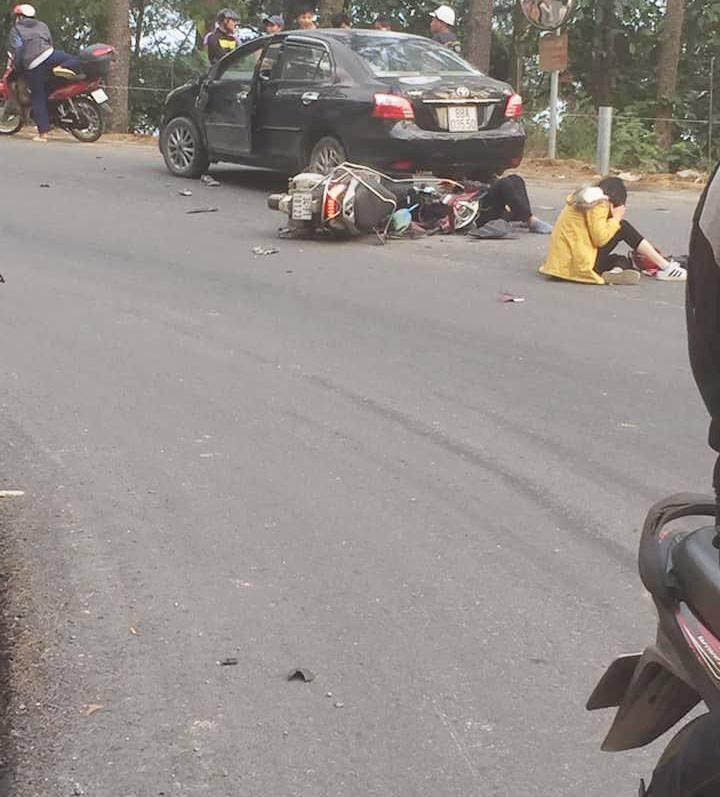Ảnh hiện trường vụ tai nạn Tam Đảo (Nguồn: Facebook)