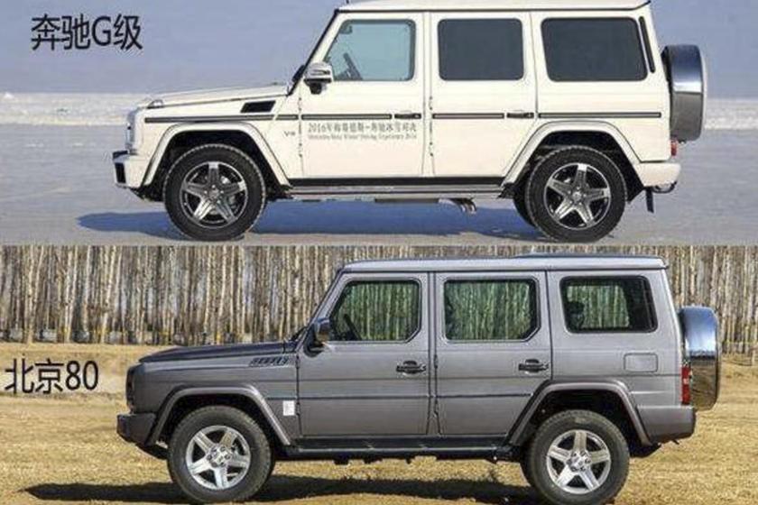 Sự giống nhau giữa Mercedes G-Class và BAIC BJ80