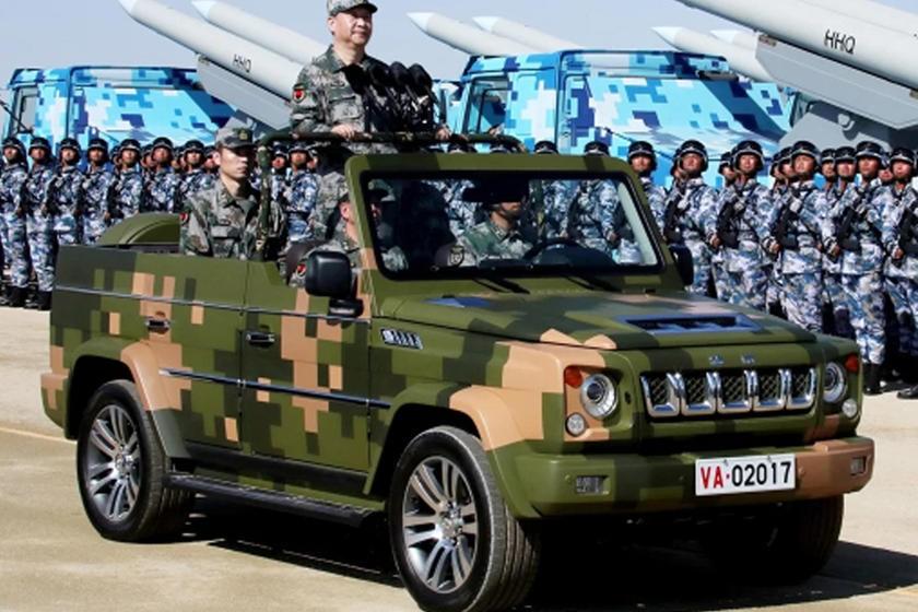 BJ80 là mẫu SUV được sử dụng phổ biến bởi quân đội Trung Quốc