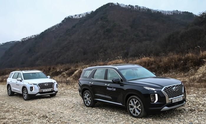 Những chiếc Hyundai Palisade 2020 mà phóng viên Hàn Quốc lái thử