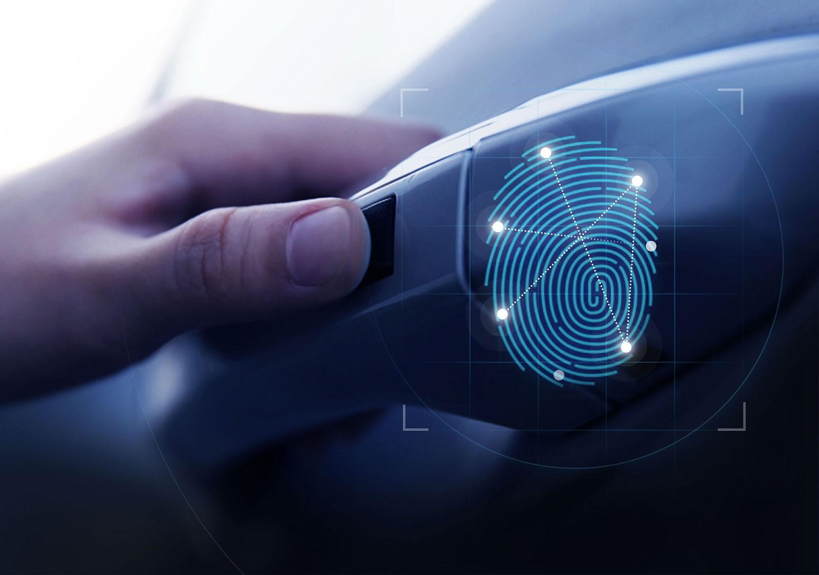 Hyundai Santa Fe 2019 tại Trung Quốc được trang bị máy quét vân tay ở tay nắm cửa