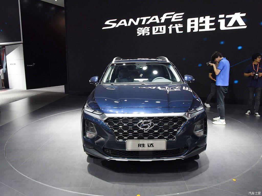 Thiết kế đầu xe của Hyundai Santa Fe 2019 phiên bản Trung Quốc không có gì khác so với xe ở những thị trường khác