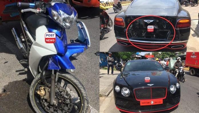 Vụ tai nạn này làm chiếc Bentley Continental GT W12 2016 đã bị hư hỏng nặng đuôi xe