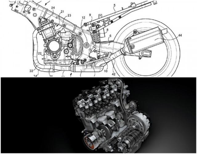 Bản vẽ thiết kế mới cùng cỗ máy 4 xy-lanh của Hayabusa Gen 3