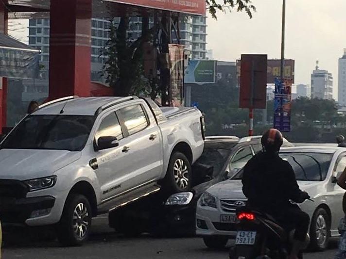Vụ việc xảy ra trước cửa Maritime Bank trên đường Hùng Vương, Đà Nẵng
