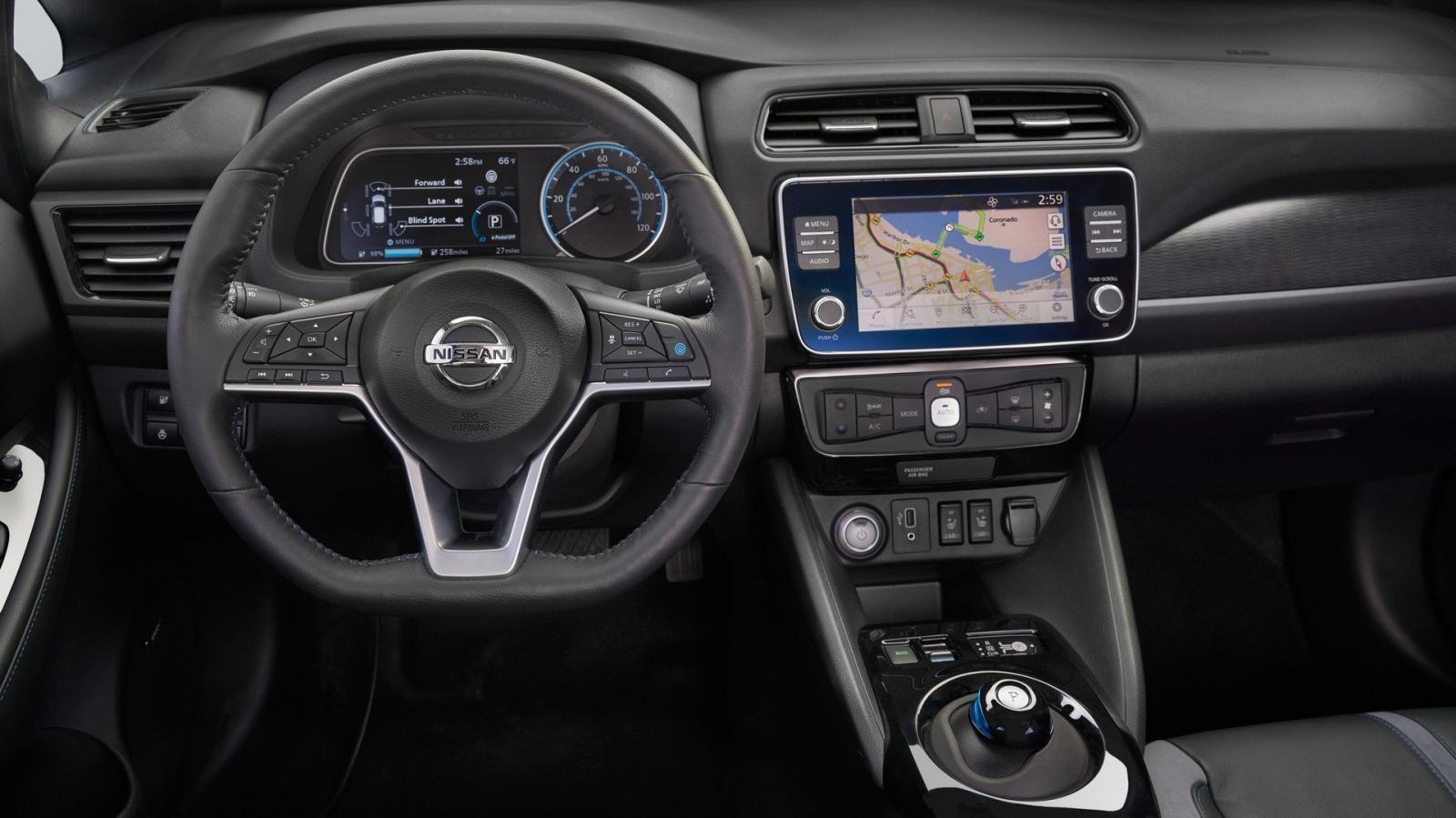 Hệ thống thông tin giải trí trên Nissan Leaf E+
