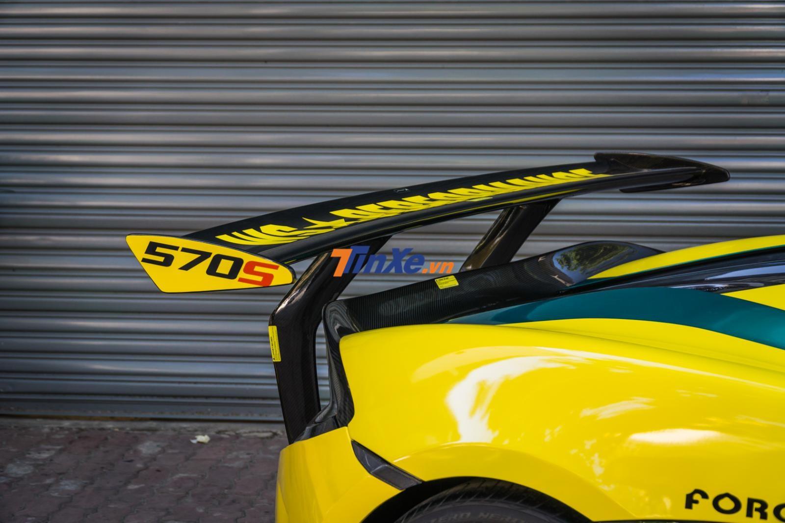 Cánh lướt gió độ của chiếc siêu xe McLaren 570S không còn đơn điệu với sợi carbon