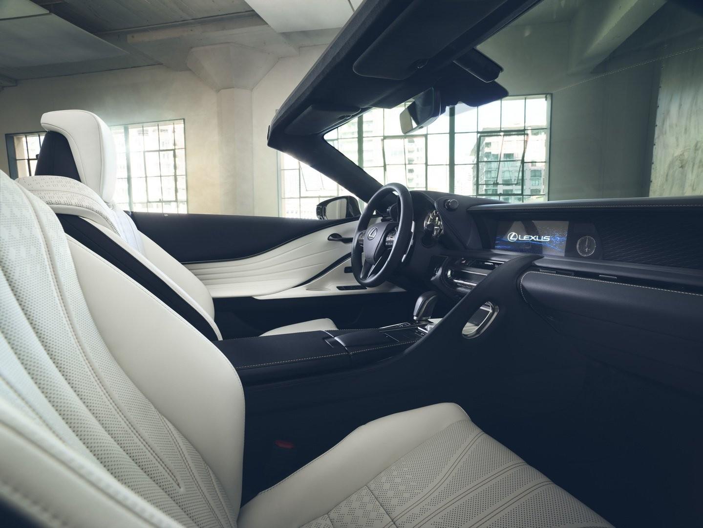 Nội thất bên trong Lexus LC Convertible