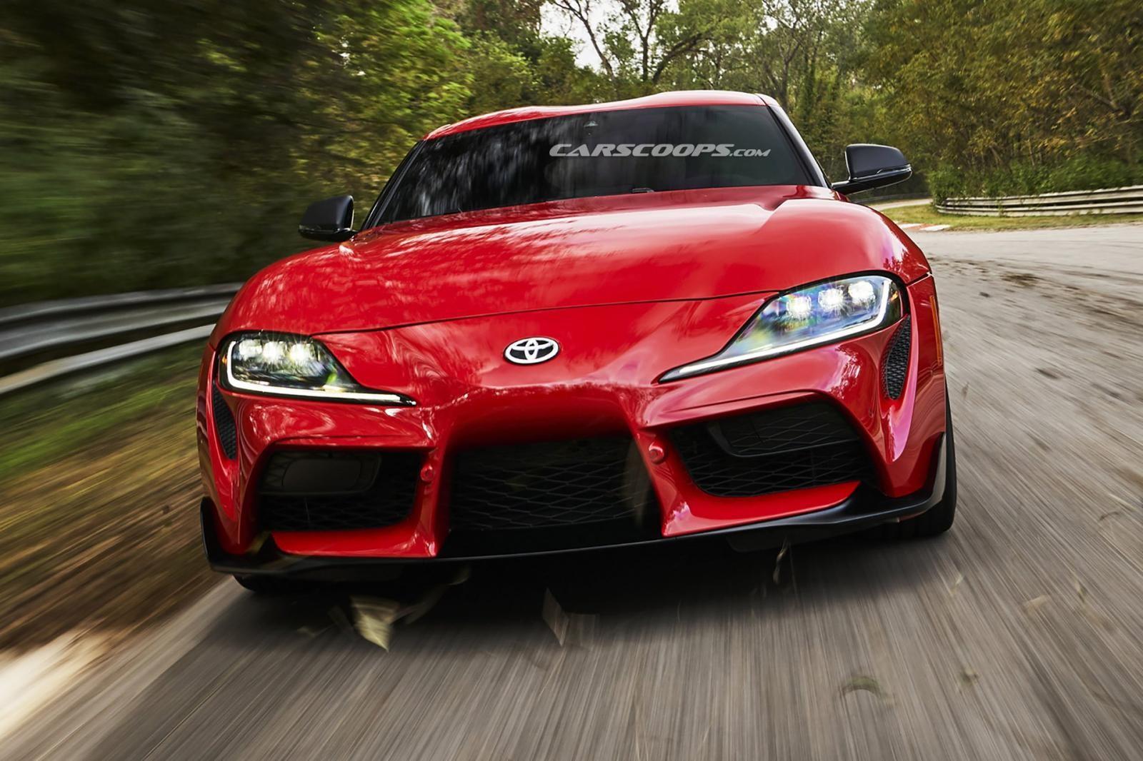 Toyota Supra 2020 có phần giữa đầu xe nhô ra phía trước