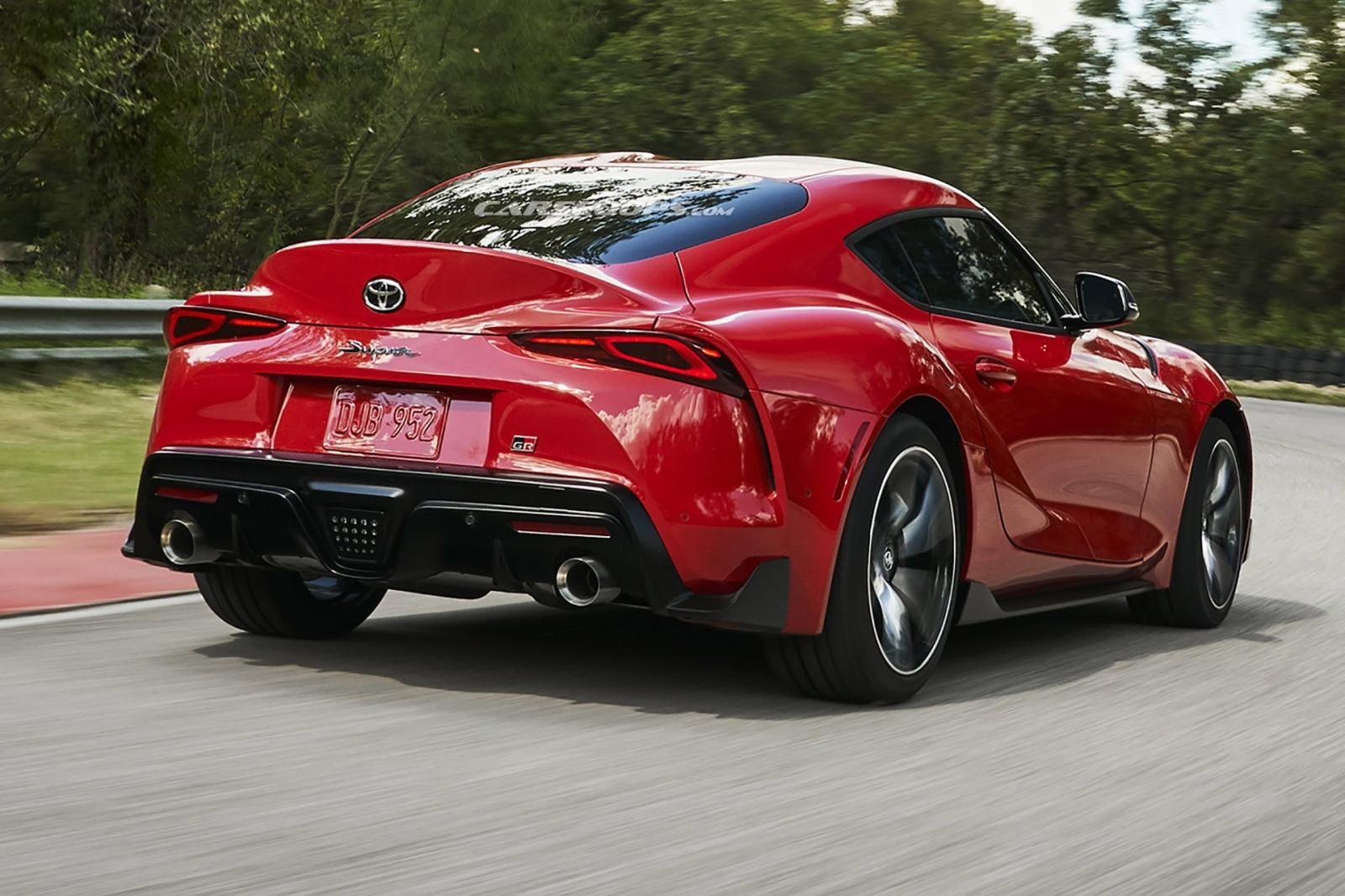Cận cảnh đuôi xe của Toyota Supra 2020