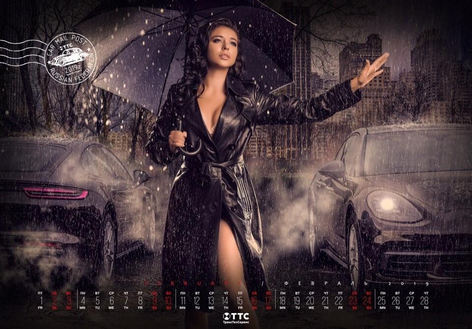 Tặng độc giả bộ ảnh lịch người mẫu Nga và xe năm 2019 cực đẹp - 2