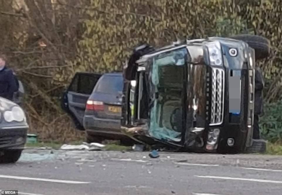 Hiện trường vụ tai nạn của Hoàng tế Philip
