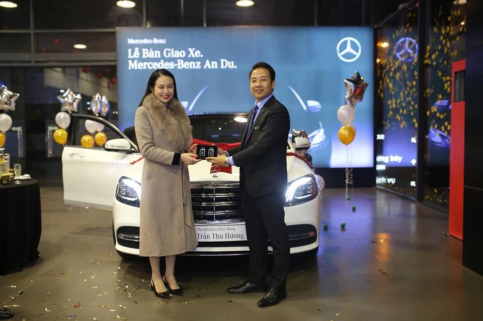 Chiếc Mercedes-Benz S450L Luxury này là của Thu Hương - vợ Tuấn Hưng