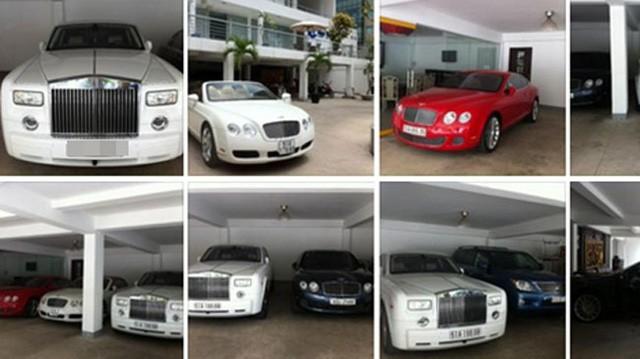 Còn đây là bộ sưu tập xe siêu sang Rolls-Royce và Bentley của Phan Thành trong những năm 2013