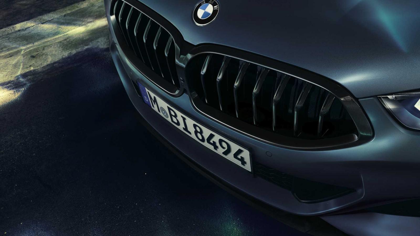 Lưới tản nhiệt của BMW 8-Series First Edition 2019 được sơn màu tối