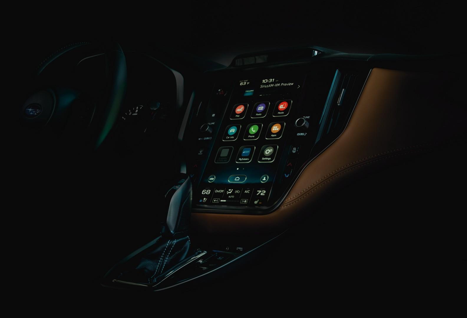 Subaru Legacy 2020 sẽ có trang bị một màn hình thông tin giải trí cỡ lớn
