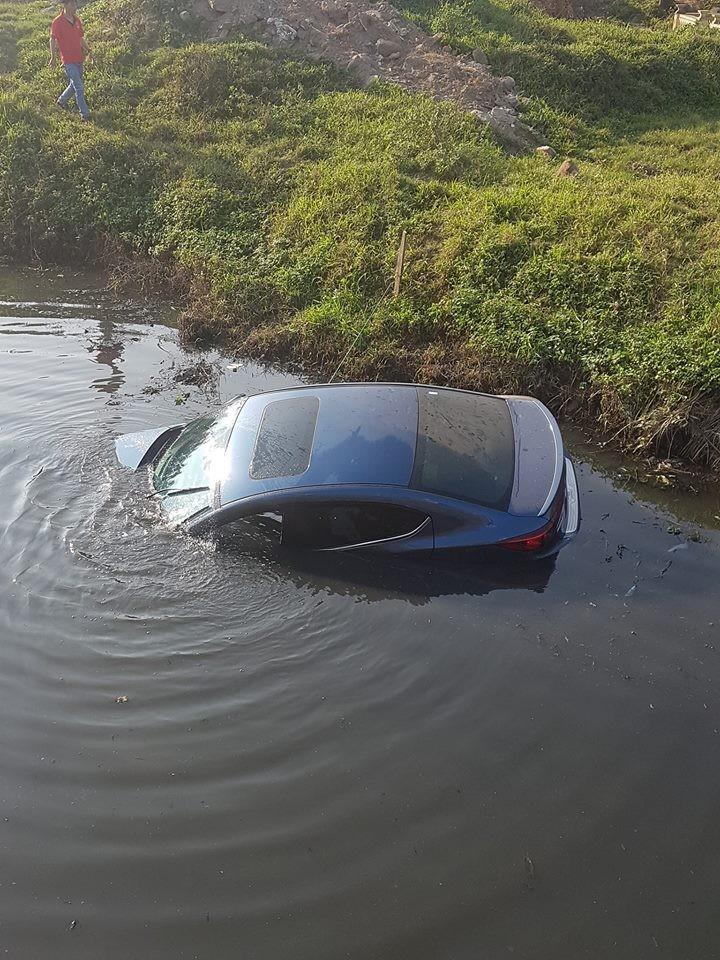 Hiện trường vụ tai nạn của chiếc Mazda3