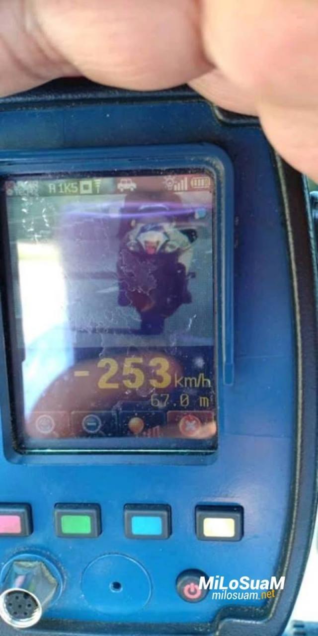 Mức vi phạm tốc độ lên đến 253 km/h