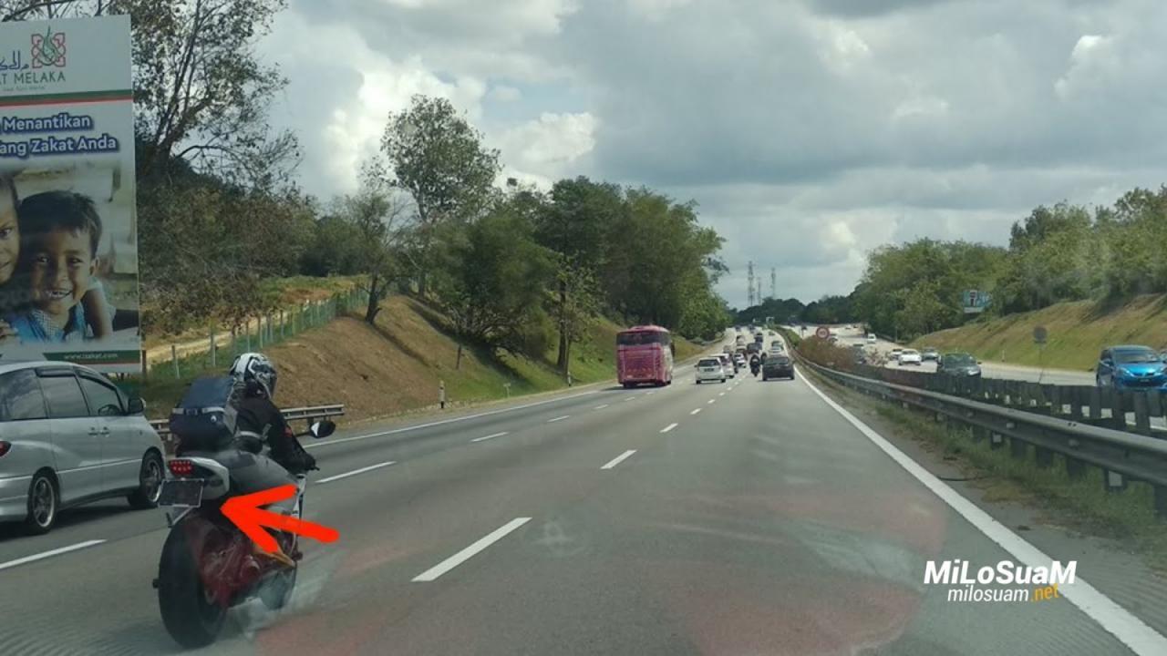 Các biker lưu thông trên cao tốc thường che biển số tránh phạt nguội