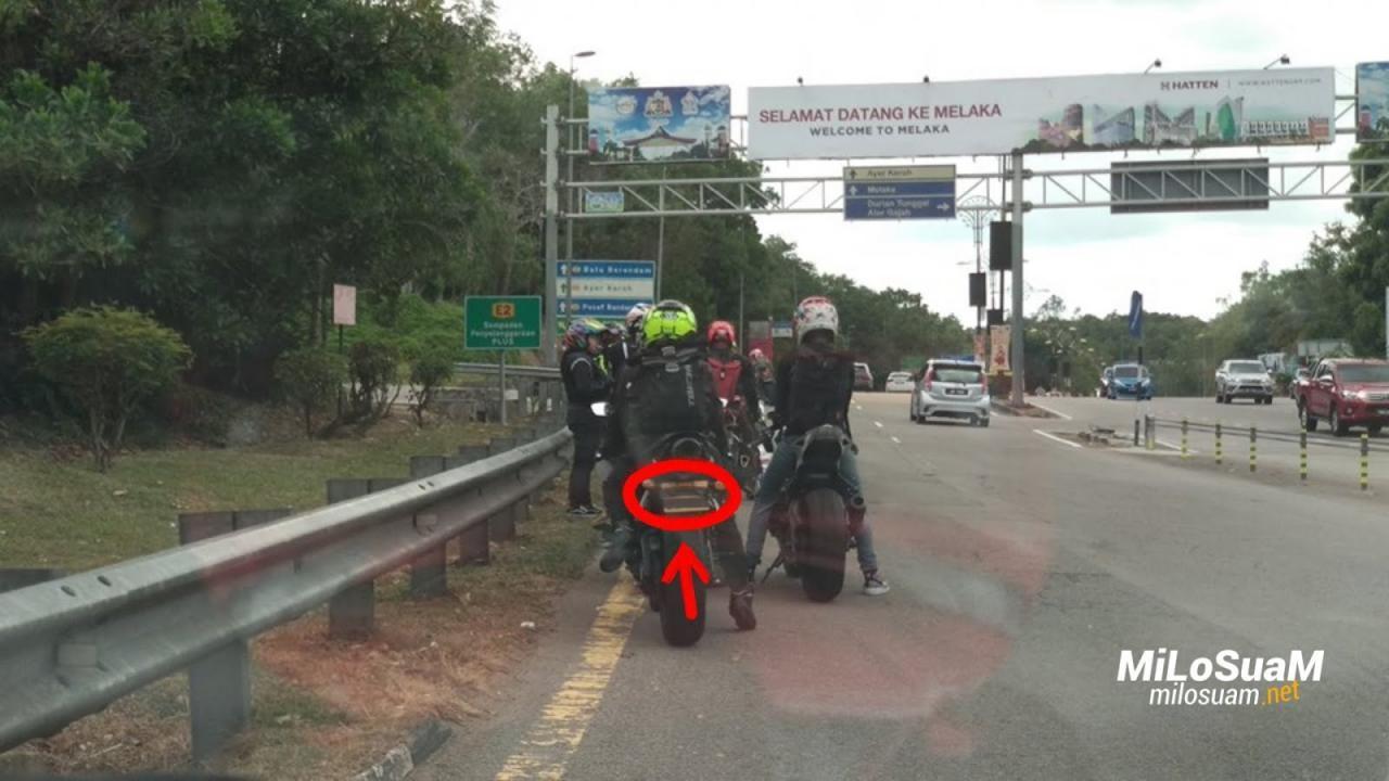 Hình ảnh do tài xế người Singapore ghi lại