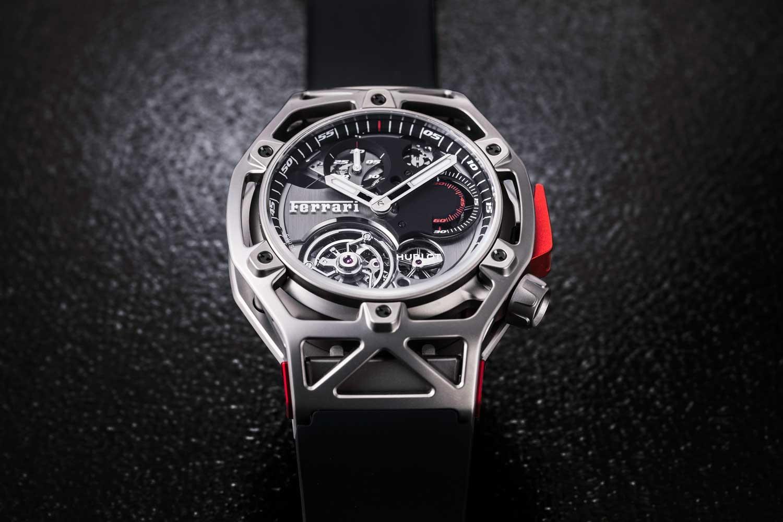 Hublot Techframe Ferrari Tourbillon Chronograph - chiếc đồng hồ ra đời dựa trên sự kết hợp giữa Hublot và Ferrari.