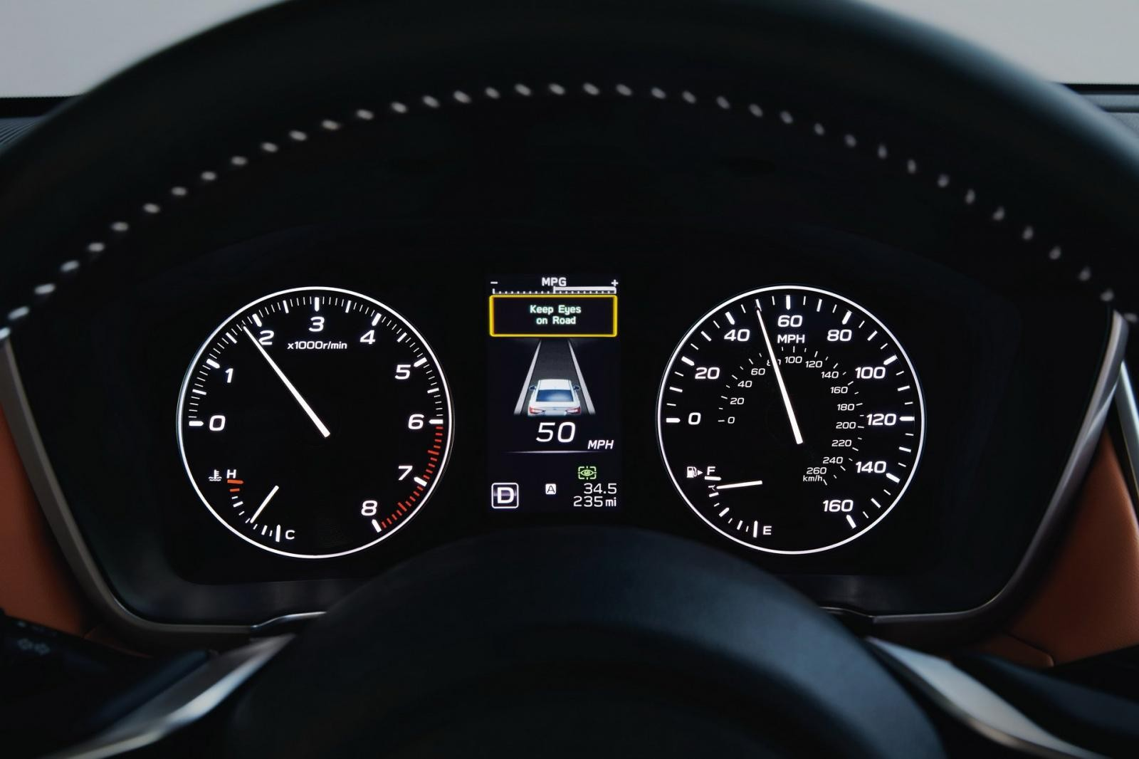 Bảng điều khiển trung tâm của Subaru Legacy 2020
