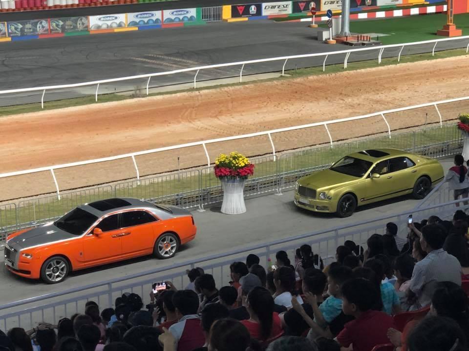 Rolls-Royce Ghost Series II và Bentley Mulsanne thế hệ mới tại đường đua Đại Nam, tỉnh Bình Dương